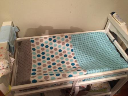 My First Attempt At Making A Changing Table Cover. I Was Excited How It  Turned Out And How Easy And Quick It Was To Make.